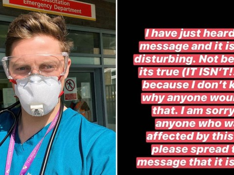 Dr Alex George warns fans not to pay attention to 'disturbing' viral NHS voice note hoax