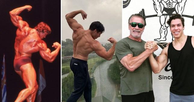 Arnold Schwarzeneggers son Joseph Baena proves to be dad