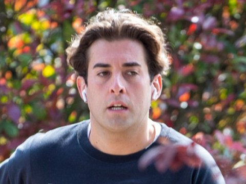 James Argent wears Gemma Collins meme jumper to continue weight loss regime after 'rehab'
