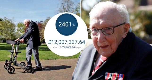 Tom Moore hits £12 million