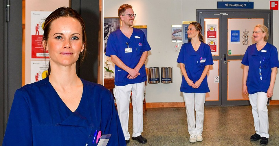 Princess Sofia of Sweden is volunteering at local hospital