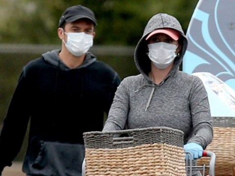 Parents-to-be Katy Perry and Orlando Bloom stay safe with masks to go food shopping amid pandemic