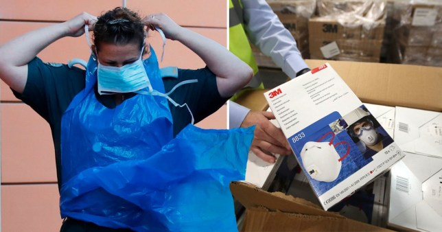 Lorries filled with masks, respirators and other protective kit are being sent to Germany, Spain and Italy