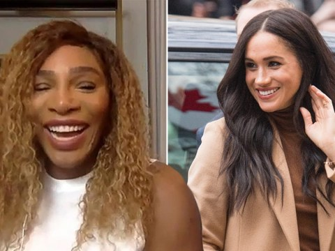 Serena Williams jokes she's 'never heard of Meghan Markle' as she shuts down question