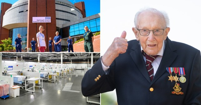 NHS Nightingale Hospital in Harrogate was opened by fundraising hero Captain Tom (Picture: PA)