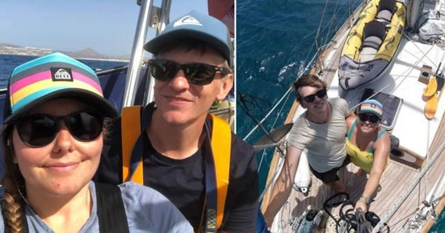 Elena Manighetti and Ryan Osborne had no idea coronavirus was infecting the world as they attempted to sail around it