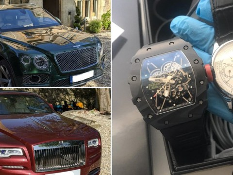 Luxury cars, paintings and cash seized during raids on London brothels
