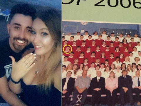 Childhood sweethearts who met aged 11 rekindle their romance and get engaged