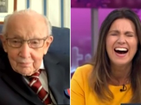 Captain Tom Moore flirts with Susanna Reid as she offers to be his bodyguard after lockdown
