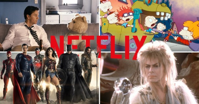 Stills from Ted, The Rugrats Movie, Justice Leaguer and Labryinth