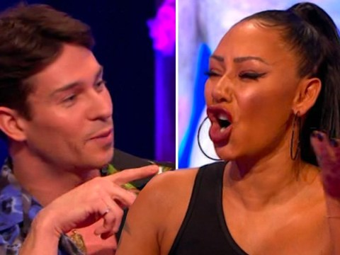Mel B tells Joey Essex to 'f**k off' after he accuses her of 'sticking it on him'