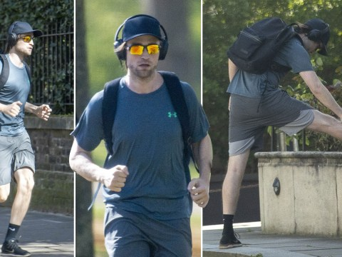 Robert Pattinson won't let lockdown stop him from getting in shape for The Batman as he heads out on gruelling run