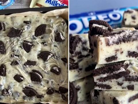 Make your own three-ingredient Oreo fudge