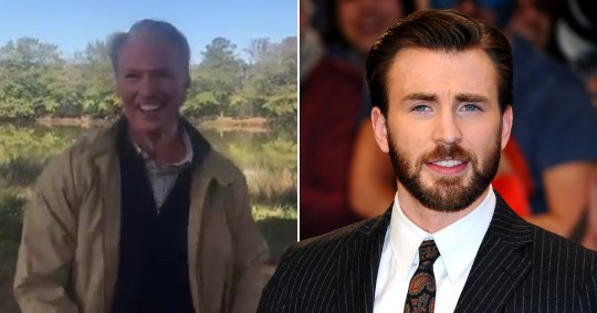 Chris Evans as old Captain America