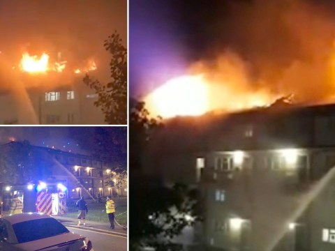 Huge blaze at London block of flats tackled by 70 firefighters