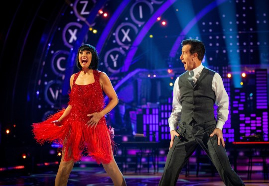 Emma Barton and Anton Du Beke during the live Strictly Come Dancing Final