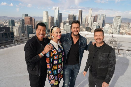 AMERICAN IDOL - American Idol returns to ABC for season three on SUNDAY, FEB. 16 (8:00-10:00 p.m. EST), streaming and on demand, after dominating and claiming the position as Sundays No. 1 most social show in 2019. Returning this season to discover the next singing sensation are music industry legends and all-star judges Luke Bryan, Katy Perry and Lionel Richie, as well as Emmy??-winning producer Ryan Seacrest as host. Famed multimedia personality Bobby Bones will return to his role as in-house mentor. (Eric McCandless/ABC via Getty Images) LIONEL RICHIE, KATY PERRY, LUKE BRYAN, RYAN SEACREST