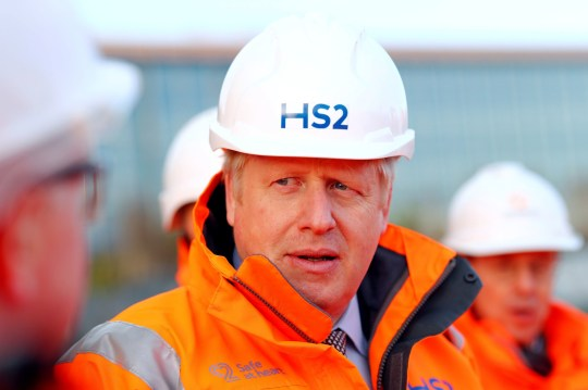 File photo dated 11/02/20 showing Prime Minister Boris Johnson during a visit to Curzon Street railway station in Birmingham where the HS2 rail project is under construction. PA Photo. Issue date: Saturday March 21, 2020. Pictures of the Prime Minister during his first 100 days in power. See PA story POLITICS 100Days. Photo credit should read: Eddie Keogh/PA Wire