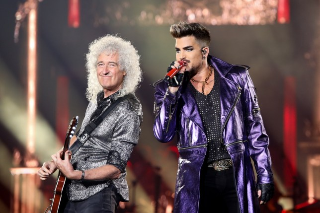 AUCKLAND, NEW ZEALAND - FEBRUARY 07: Brian May and Adam Lambert perform at Mt Smart Stadium on February 07, 2020 in Auckland, New Zealand. (Photo by Dave Simpson/WireImage)