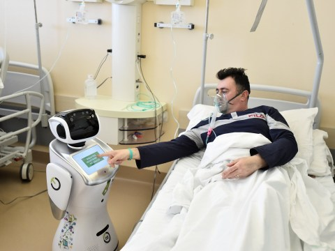 Robots employed on Italian hospital wards dealing with coronavirus