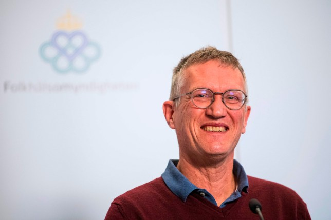 Epidemiologist Anders Tegnell of the Public Health Agency of Sweden attends a press conference to update on the COVID-19 coronavirus situation on April 1, 2020 in Solna, Sweden. (Photo by Jonathan NACKSTRAND / AFP) (Photo by JONATHAN NACKSTRAND/AFP via Getty Images)