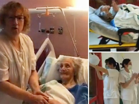 Nurses clap as 101-year-old leaves hospital after beating coronavirus