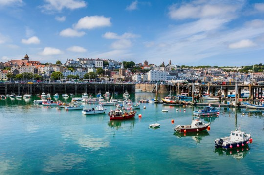 Harbour and Skyline of Saint Peter Port, Guernsey