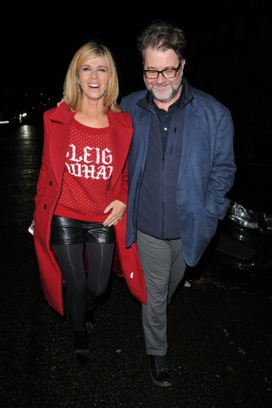Mandatory Credit: Photo by Can Nguyen/REX (10510342w) Kate Garraway and Derek Draper Piers Morgan Christmas Party, London, UK - 19 Dec 2019 Piers Morgan Christmas party 2019, Scarsdale Tavern, Edwardes Square on Thursday 19 December 2019 in London.