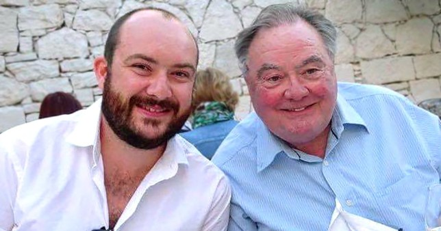 Eddie Large and son Ryan Large