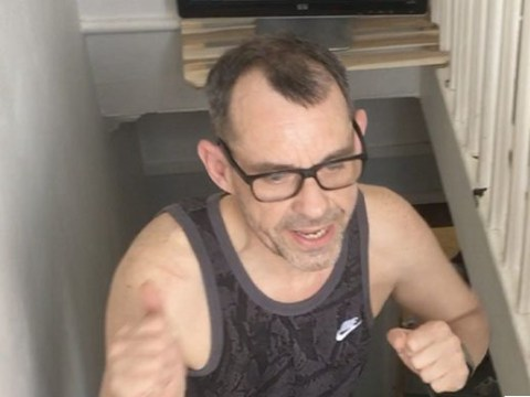 Man climbs height of Everest by running up and down his stairs
