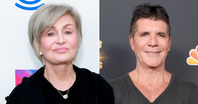 Sharon Osbourne and Simon Cowell