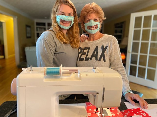 Student creates masks for deaf people
