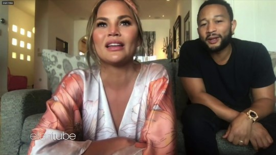 Chrissy Teigen and John Legend on The Ellen Degeneres Show