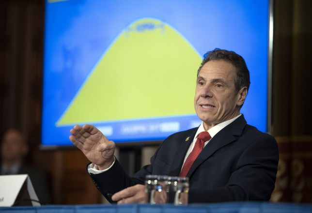 April 6, 2020 - Albany, NY - Governor Andrew M. Cuomo provides a coronavirus update during a press conference in the Red Room at the State Capitol. (Mike Groll/Office of Governor Andrew M. Cuomo)