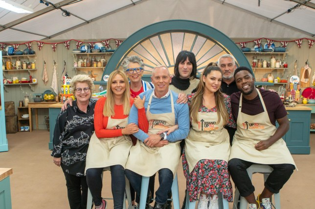 Carol, Rob, Kelly and Mo on The Great Celebrity Bake Off