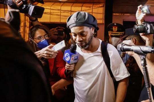 Ronaldinho is under house arrest at the Palmaroga Hotel in Asuncion