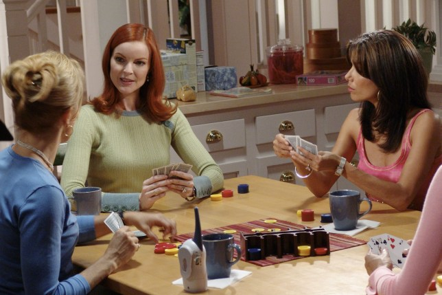 Editorial use only. No book cover usage. Mandatory Credit: Photo by Abc-Tv/Kobal/REX (5886280cs) Felicity Huffman, Marcia Cross, Eva Longoria Desperate Housewives - 2004 ABC-TV USA Television