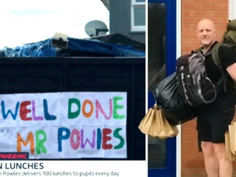 Teacher walks five miles a day giving packed lunches to disadvantaged children