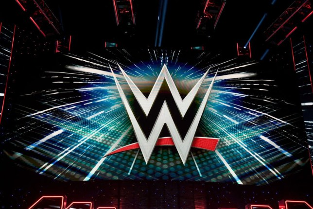 LAS VEGAS, NEVADA - OCTOBER 11: A WWE logo is shown on a screen before a WWE news conference at T-Mobile Arena on October 11, 2019 in Las Vegas, Nevada. It was announced that WWE wrestler Braun Strowman will face heavyweight boxer Tyson Fury and WWE champion Brock Lesnar will take on former UFC heavyweight champion Cain Velasquez at the WWE's Crown Jewel event at Fahd International Stadium in Riyadh, Saudi Arabia on October 31. (Photo by Ethan Miller/Getty Images)