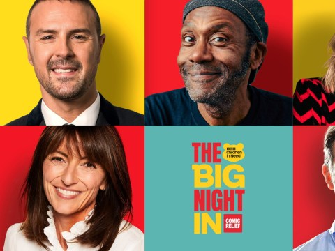 Who is taking part in The Big Night In and when is it on BBC One?