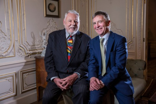 Mandatory Credit: Photo by REX (10234639f) Terry Waite and John McCarthy meet for the first time in over 20 years Terry Waite meeting with John McCarthy at the Lebanese Ambassador's residence, London, UK - 09 May 2019
