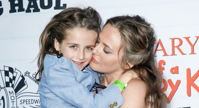 Alicia Silverstone and her son Bear