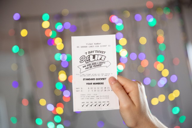 Set For Life lottery ticket (Picture: The Lott)