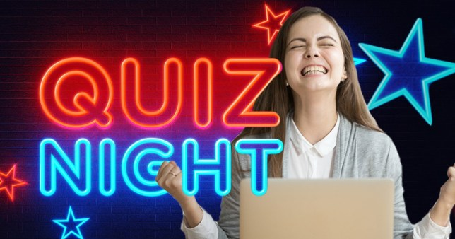 Woman organising a virtual quiz night