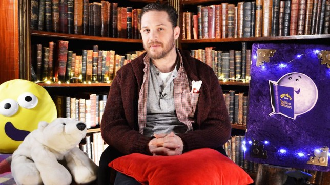 Tom Hardy on CBeebies bedtime stories.
