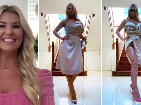 Christine McGuinness puts on fashion show to model the surprising ways to wear a bathrobe and it was incredible