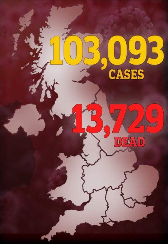 Coronavirus death toll map 16/04/2020