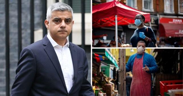 Sadiq Khan tells londoners to wear face masks
