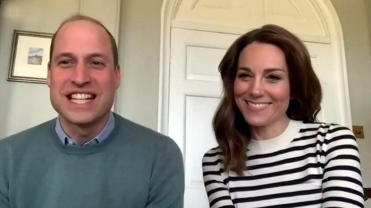 Pic shows: Duke and Duchess of Cambridge have video interview from home with BBC Breakfast during lockdown for Covid 19 BBC supplied by Pixel8000 07917221968 check permission before use see special instructions