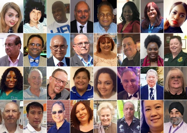 Faces of health workers who have died from coronavirus